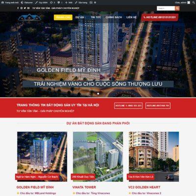 Mẫu web bất động sản 38