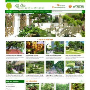Mẫu web cảnh quan sân vườn
