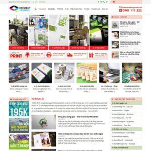 Mẫu web in ấn