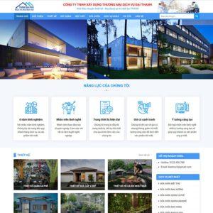 Mẫu web kiến trúc 3