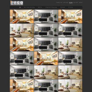 Mẫu web kiến trúc 5
