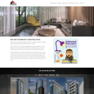 Mẫu web kiến trúc 6