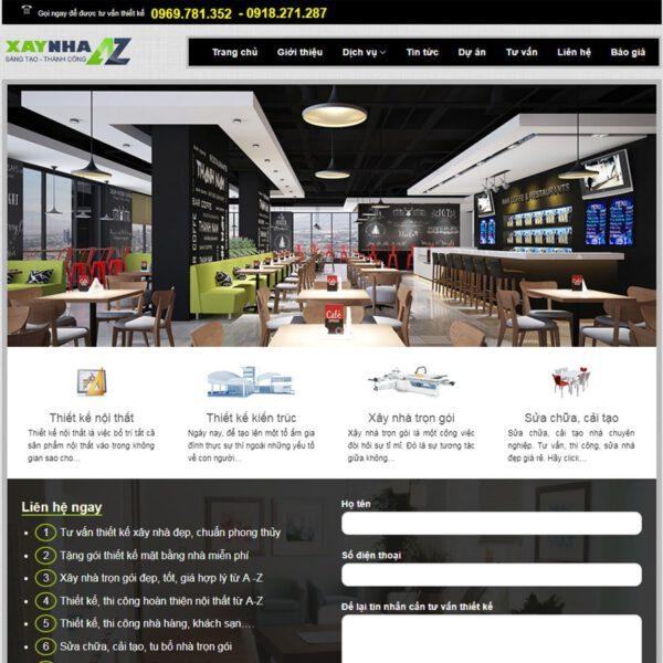 Mẫu web kiến trúc 7
