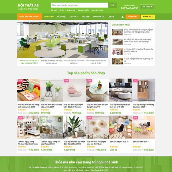 Mẫu web phụ kiện trang trí 1