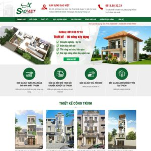 Mẫu web thiết kế kiến trúc xây dựng 1