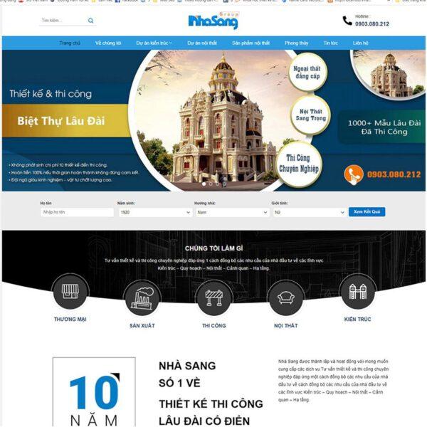 Mẫu web thiết kế kiến trúc xây dựng 2