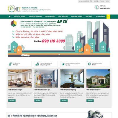 Mẫu web thiết kế kiến trúc xây dựng 3