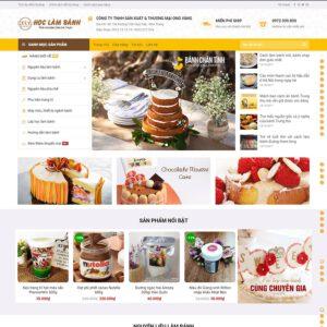 Mẫu web tiệm bánh ngọt